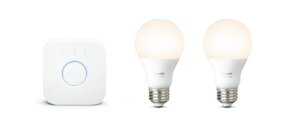 a philips hue lightbulb pack