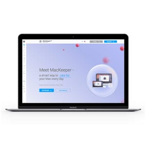 image of MacKeeper software on Apple laptop