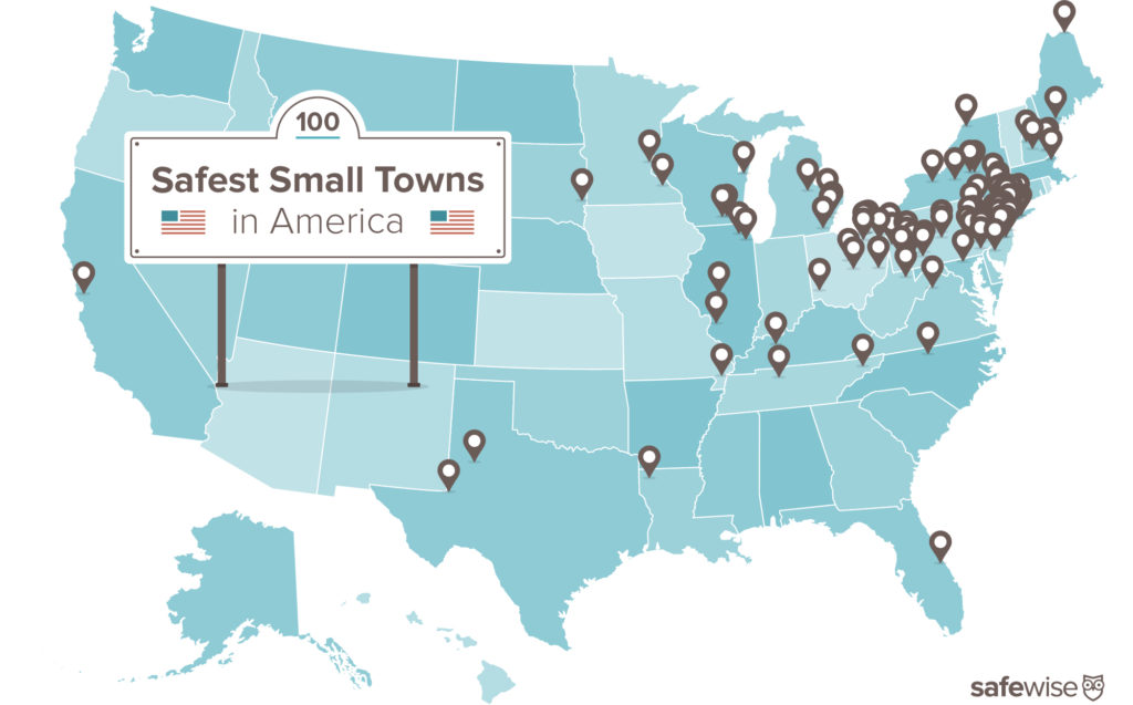 safest towns in america infographic