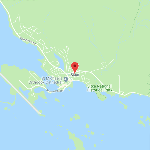 map image of Sitka, AK