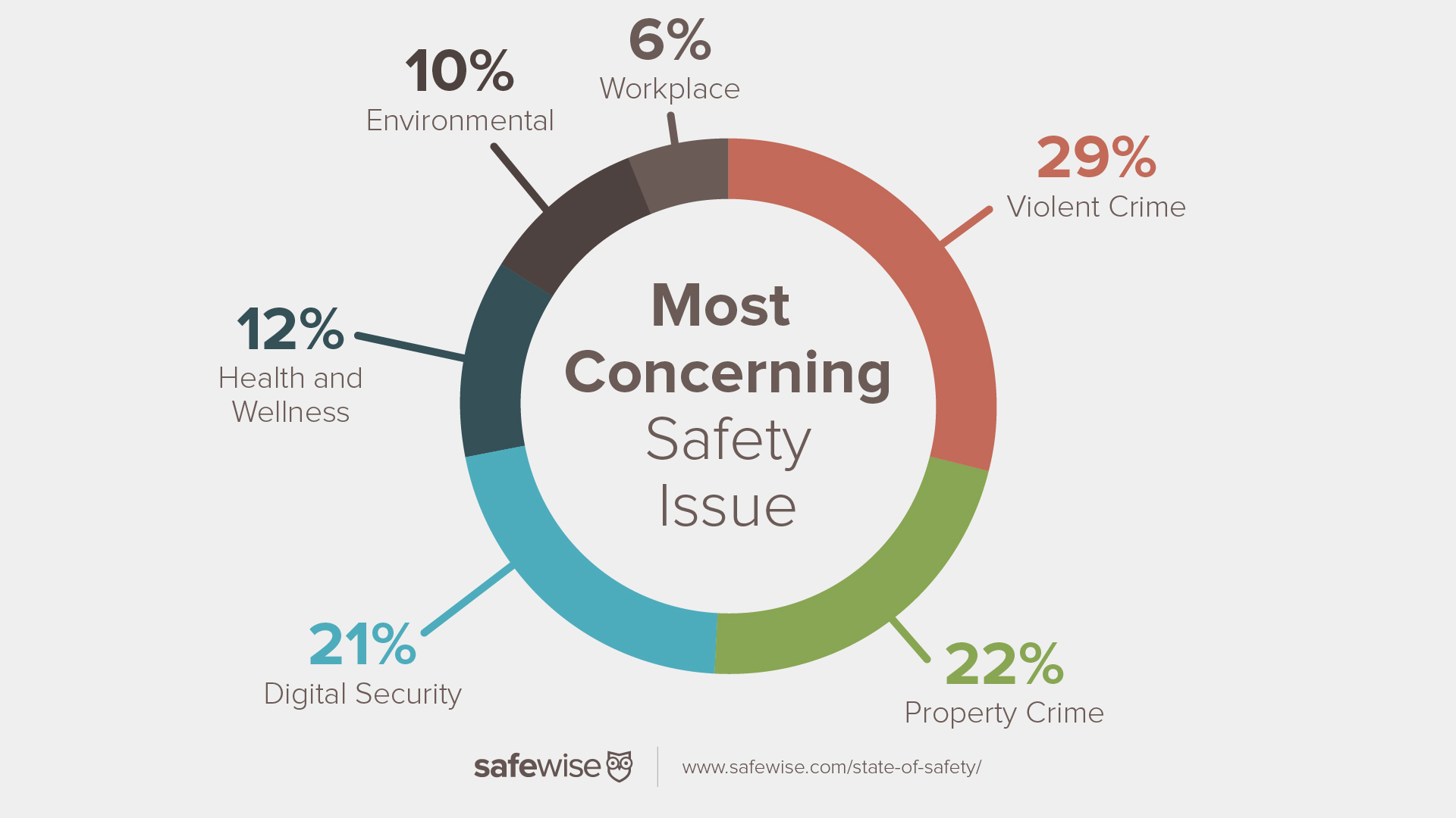 Chart showing the most concerning safety issues in the country