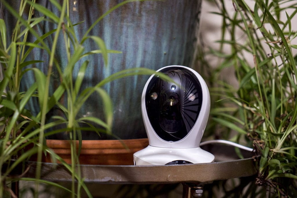 photo of vimtag security camera in home