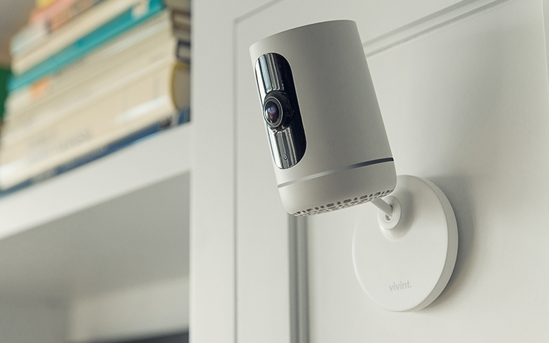 Vivint ping camera in home