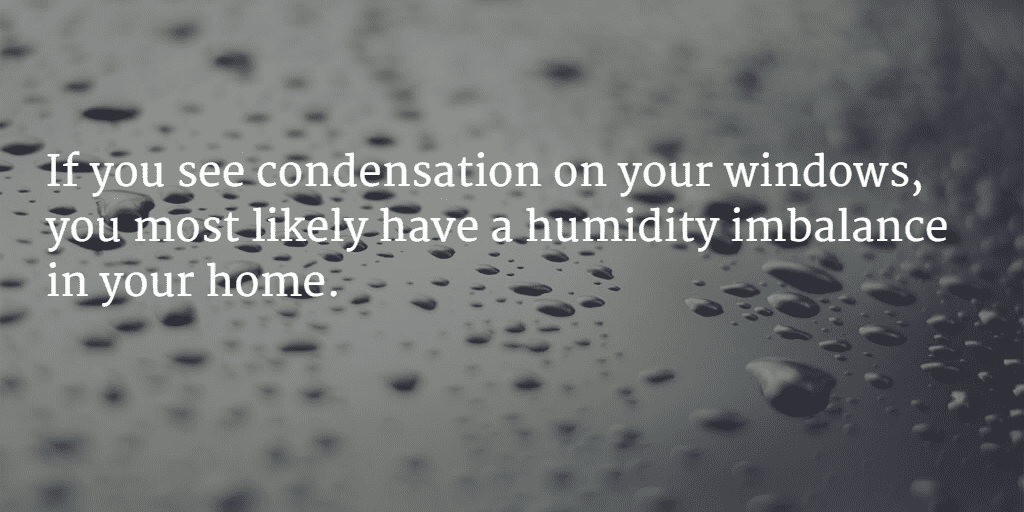 Window condensation means a humidity imballance in your home.